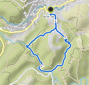 Karte Wanderweg Siegen