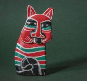 Skulptur einer Katze von Picasso