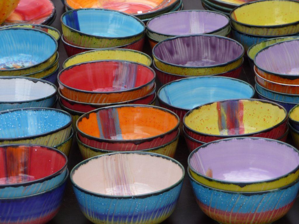 handgefertigte Keramikschalen